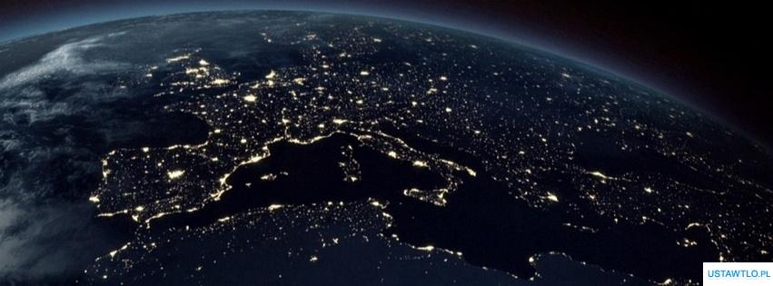 tło Europa z kosmosu na facebooka oś czasu