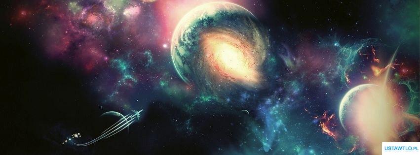 tło Widok z kosmosu na facebooka oś czasu