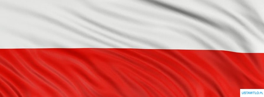 tło Flaga Polski na facebooka oś czasu