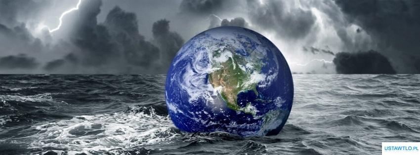 tło Ziemia na morzu na facebooka oś czasu