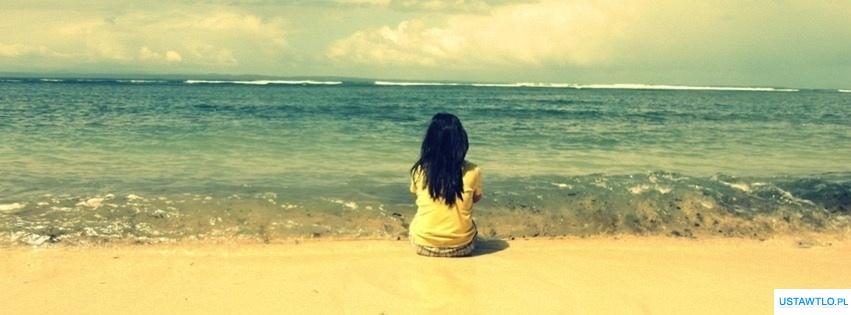 tło Dziewczyna na plaży na facebooka oś czasu