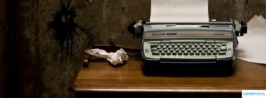 tło Maszyna do pisania na facebooka oś czasu