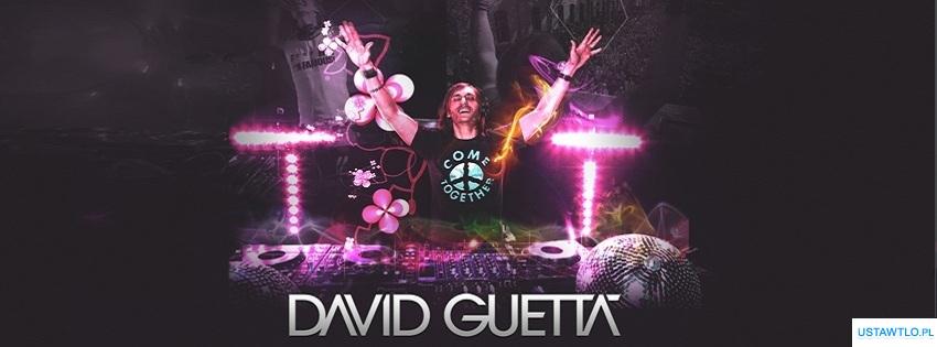 tło tapeta David Guetta na facebooka oś czasu