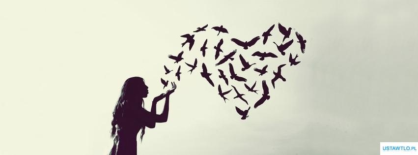 tło ptaki miłości na facebooka oś czasu