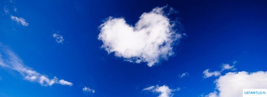 tło Tło serce na niebie na facebooka oś czasu