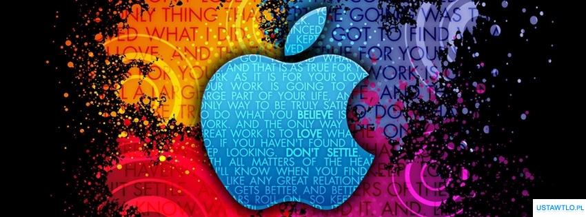 tło Tło nadgryzione jabłko na facebooka oś czasu