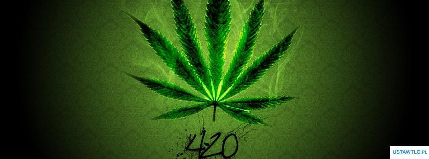 tło Tapeta Liść marihuany na facebooka oś czasu