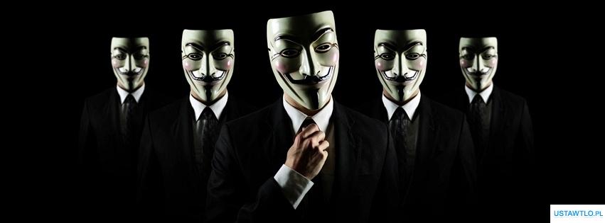 tło Faceci w maskach na facebooka oś czasu