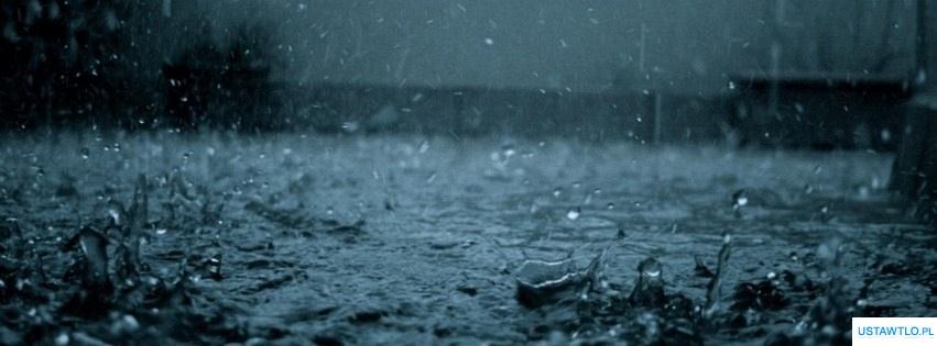 tło Deszcz na facebooka oś czasu