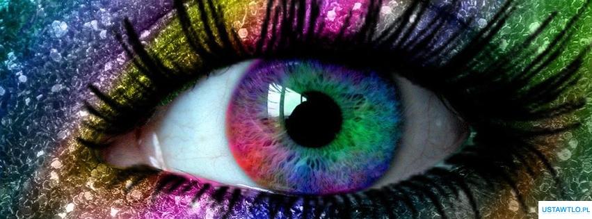 tło Tło Kolorowe oko na facebooka oś czasu