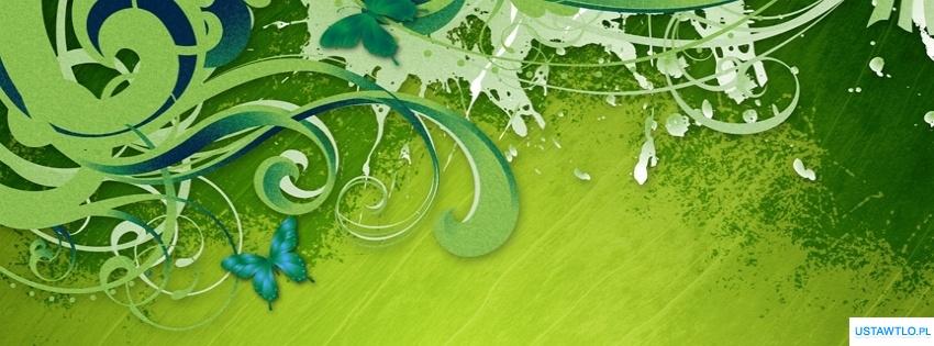 tło Tapeta  Zielone wzory na facebooka oś czasu
